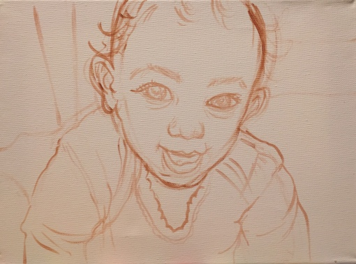 Preparatory sketch for Sera's portrait