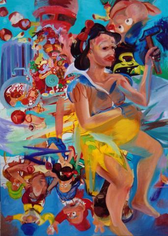 Candyman Turnoff, 185 x 130 cm, oil on linen, 2002