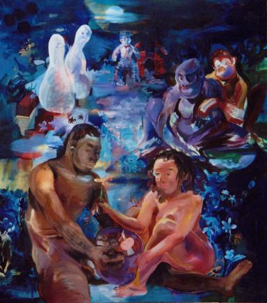Paleface Pairs, oil on linen, 1999-2001