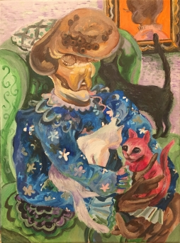 Interstellar Cat Lady (finished painting)